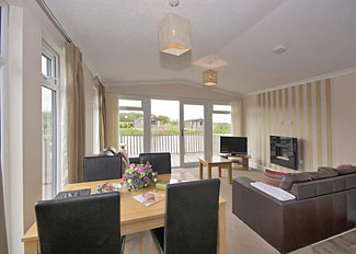 Willow VIP Holiday Home living area ( Ref LP6740 ) Woodland Lakes Holiday Lodge Thirsk North Yorkshire