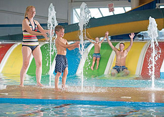 Cayton Bay Waterworld - Indoor heated fun pool at Cayton Bay Holiday Park near Scarborough North Yorkshire