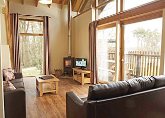 Interior of typical Golden Oak Lodge ( Ref LP3805 ) at Keldy Forest Cabins Cropton North Yorkshire