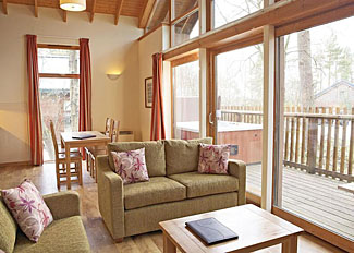 Living area of typical Silver Birch Lodge ( Ref LP5573 ) Self Catering Accommodation at Keldy Forest Lodges Pickering area