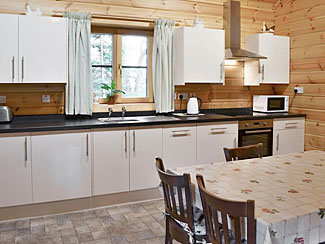 Kitchen & dining area in Millie's Lodge ( Ref UK2211 ) Cropton Holiday Lodge at Sycamore Farm - Accommodation in North Yorkshire