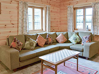 Millie's Lodge living area ( Ref UK2211 ) Sycamore Farm Log Cabin - Pet friendly lodge accommodation Cropton North Yorkshire