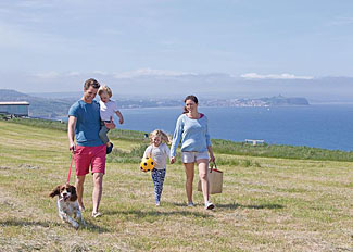 Cliff top walks at Blue Dolphin Holiday Park near Filey North Yorkshire
