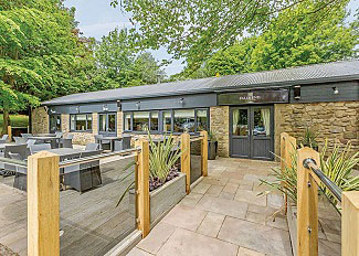 Aysgarth Lodges - Falls End bar and restaurant at holiday park near Leyburn North Yorkshire