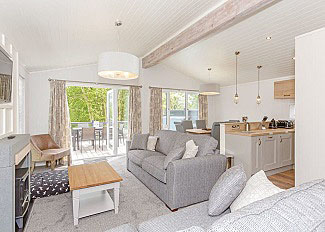 Typical Contemporary 4 Lodge open plan living area ( Ref LP16624 ) Aysgarth Holiday Lodge in Yorkshire Dales National Park