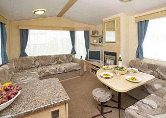 Interior of typical Eastborough Caravan ( Ref LP13122 ) at Cayton Bay Holiday Park Yorkshire