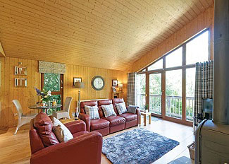 Interior of Grondal Lodge ( Ref LP1584 ) at Spring Wood Lodges near Harrogate North Yorkshire