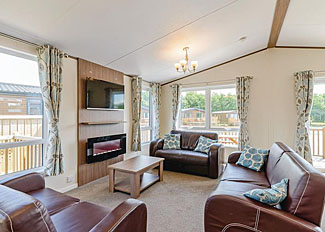 Interior of typical Alder 4 Waterside VIP Holiday Home ( Ref LP11906 ) Woodland Lakes Holiday Lodge Thirsk North Yorks